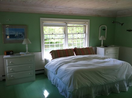 West Yarmouth Cape Cod vacation rental - Bedroom with king bed and water view