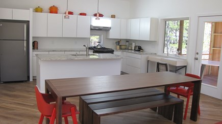 Wellfleet Cape Cod vacation rental - Large table seats everyone