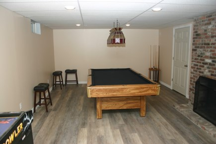 South Yarmouth Cape Cod vacation rental - Game room in finished basement