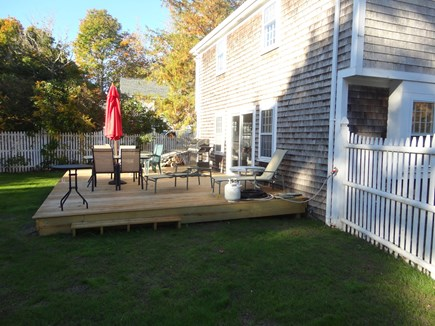 South Yarmouth Cape Cod vacation rental - New deck in large back yard