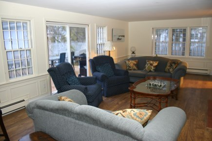 South Yarmouth Cape Cod vacation rental - Large living room with sliders to deck