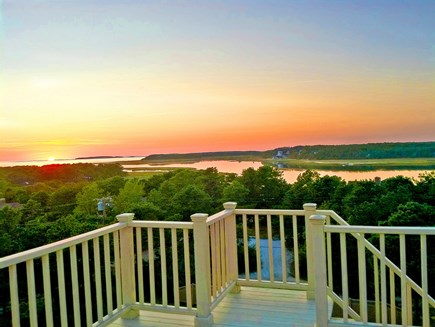Wellfleet Cape Cod vacation rental - Glorious sunset on the deck!