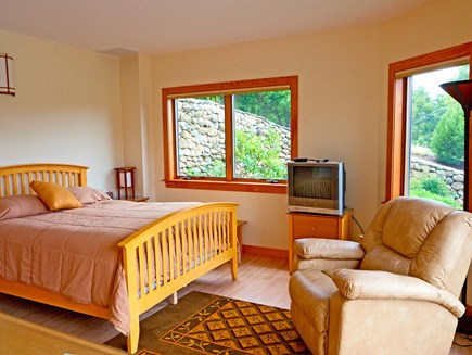Wellfleet Cape Cod vacation rental - Bedroom  3- by the stone wall rose garden