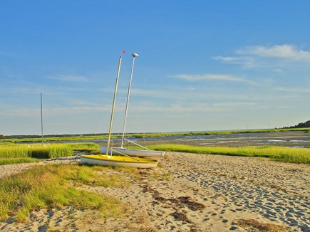Wellfleet Cape Cod vacation rental - Low tide at the bay beach nearby