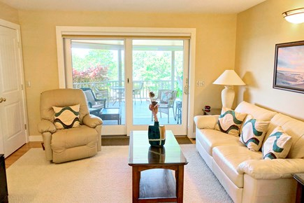 Wellfleet Cape Cod vacation rental - The den goes out to the covered porch