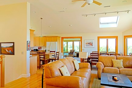 Wellfleet Cape Cod vacation rental - Upstairs- open living , dining, kitchen, sunroom!
