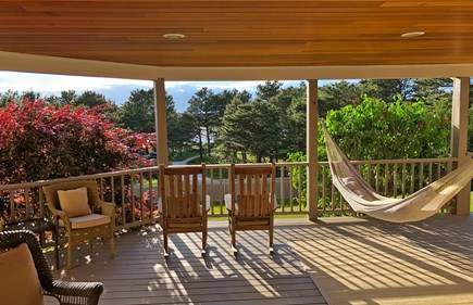 Wellfleet Cape Cod vacation rental - Perfect summer day, rockers on the covered porch