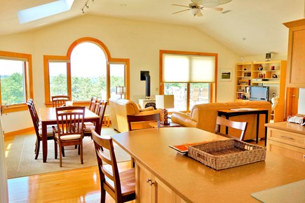 Wellfleet Cape Cod vacation rental - From the kitchen Island to the living ,dining areas