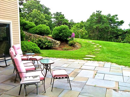 Wellfleet Cape Cod vacation rental - Sitting out on the stone patio