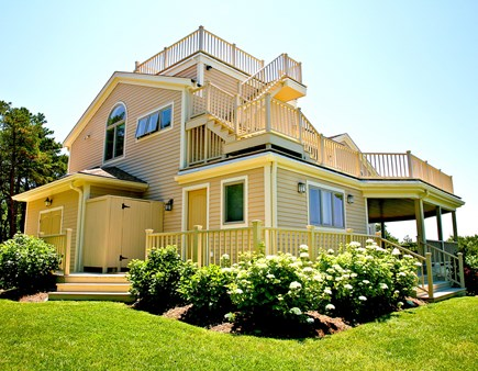 Wellfleet Cape Cod vacation rental - Decks and full blooms