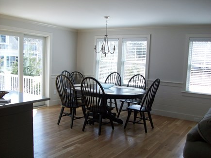 South Chatham Cape Cod vacation rental - Dining area with sliders to the deck