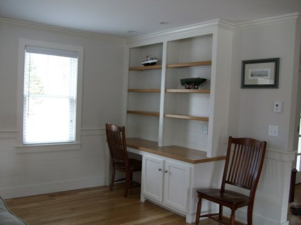 South Chatham Cape Cod vacation rental - Built-in desk/bookcase