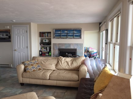 Truro Cape Cod vacation rental - Livingroom has gas fireplace