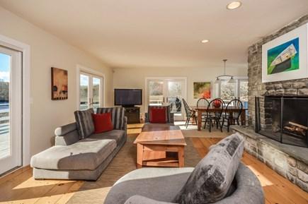 Hyannis Cape Cod vacation rental - Living room overlooking deck
