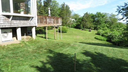 Brewster Cape Cod vacation rental - Huge yard makes great play space for kids.  Bring your Frisbee!
