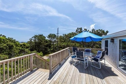 Wellfleet Cape Cod vacation rental - Sun deck off Dining Room with water view