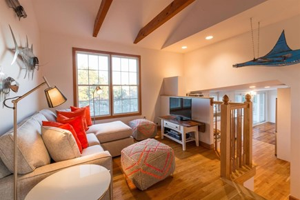 Wellfleet Cape Cod vacation rental - TV viewing area by kitchen