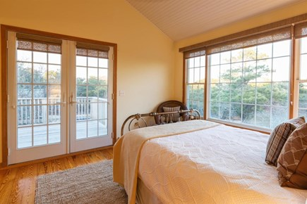 Wellfleet Cape Cod vacation rental - Master Bedroom with private deck and bath on second floor