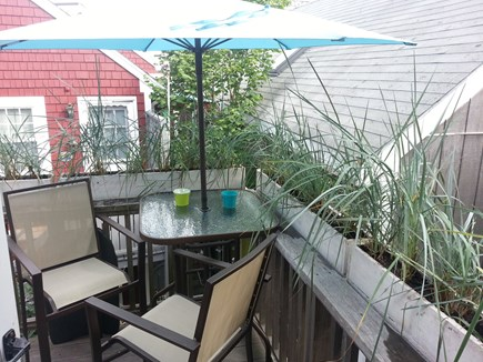 Provincetown Cape Cod vacation rental - Deck with Bistro Table and Grill