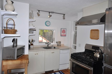 Provincetown Cape Cod vacation rental - Eat-in Kitchen with a View of Commercial Street
