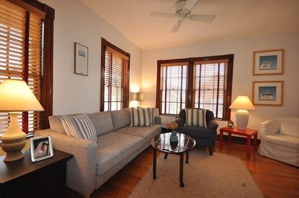 Provincetown Cape Cod vacation rental - Living Room with Queen Sleeper Sofa and AC