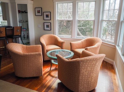 West Yarmouth Great Island Cape Cod vacation rental - Additional seating area behind kitchen and next to dining table.