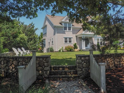 West Yarmouth Great Island Cape Cod vacation rental - Beautiful stone wall and great place to sit with morning coffee.