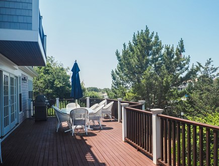 West Yarmouth Great Island Cape Cod vacation rental - Large outdoor deck overlooking Sweetheart Creek.  Outdoor shower.