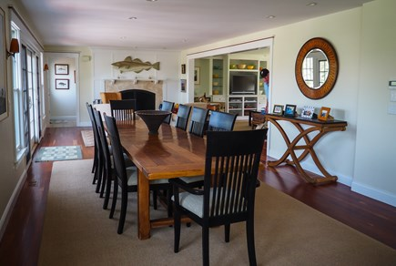 West Yarmouth Great Island Cape Cod vacation rental - Huge family style farm table.  Easily seats 12 people.