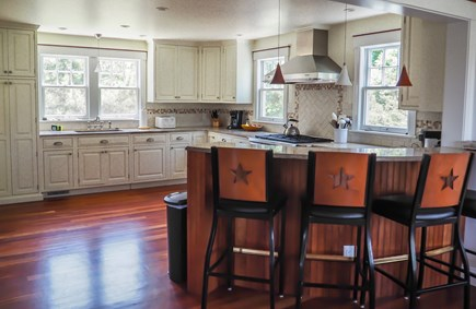 West Yarmouth Great Island Cape Cod vacation rental - Huge kitchen with seating bar.  Wolf, SubZero, Miele appliances.