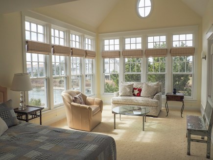 West Yarmouth Great Island Cape Cod vacation rental - Master bedroom suite with large seating area overlooking creek.