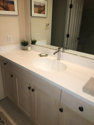 Chatham Cape Cod vacation rental - Generous Corion sink/countertop with Grohe fixture