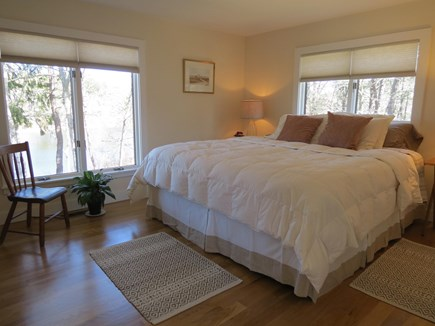 Chatham Cape Cod vacation rental - Master Bedroom with King bed and pond view