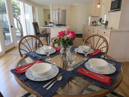 Chatham Cape Cod vacation rental - Kitchen Dining while enjoying the open floor plan