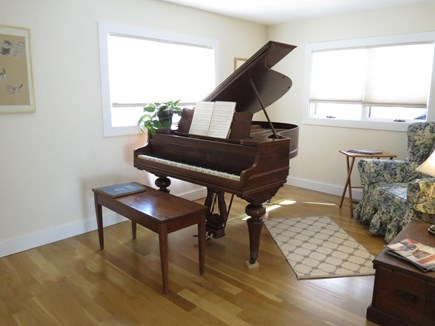 Chatham Cape Cod vacation rental - Music Room with Baby Grand Piano and a quiet reading corner