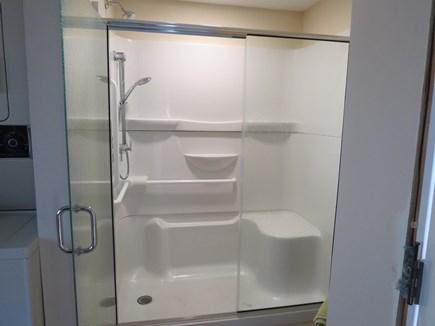 Chatham Cape Cod vacation rental - Walk-in fiberglass w/seat, grab bars, hand held & shower head
