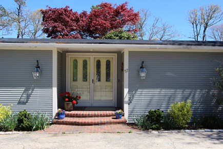 Chatham Cape Cod vacation rental - Front Door welcomes you w/ Atrium's Japanese Red Maples