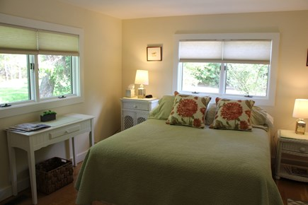 Chatham Cape Cod vacation rental - 3rd Guest Bedroom with Queen bed with custom closet shelving