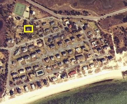 West Yarmouth Cape Cod vacation rental - Aerial view of house and beach