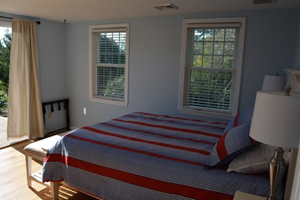 West Yarmouth Cape Cod vacation rental - 1st floor queen bedroom with sliders to private deck