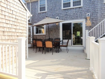 West Yarmouth Cape Cod vacation rental - Outdoor dining on the deck off the kitchen