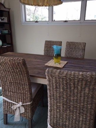 North Falmouth Cape Cod vacation rental - Enjoy dinner in the dining room or large exterior deck.