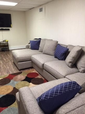 North Falmouth Cape Cod vacation rental - Finished basement/playroom with TV