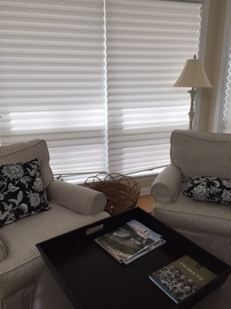 North Falmouth Cape Cod vacation rental - Quiet reading corner with large windows overlooking yard.