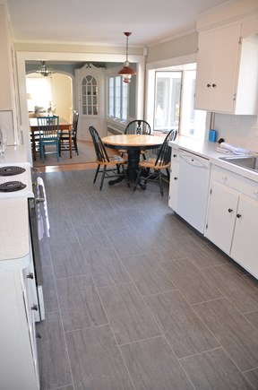 Brewster Cape Cod vacation rental - Brand new floor, extra seating in kitchen