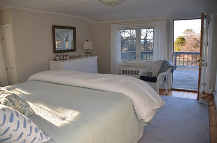 Brewster Cape Cod vacation rental - Master bedroom with king bed and views