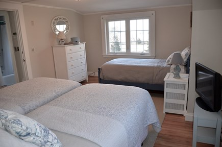 Brewster Cape Cod vacation rental - Spacious bedroom for three twins and a fabulous view!