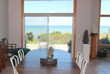 Truro Cape Cod vacation rental - Dining Area With View of Bay