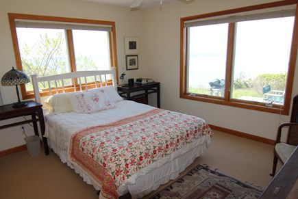 Truro Cape Cod vacation rental - Bedroom 2 Queen Bed with Bay View