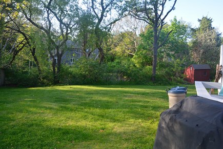 Orleans Cape Cod vacation rental - Private backyard with storage shed for bikes, beach toys, etc.